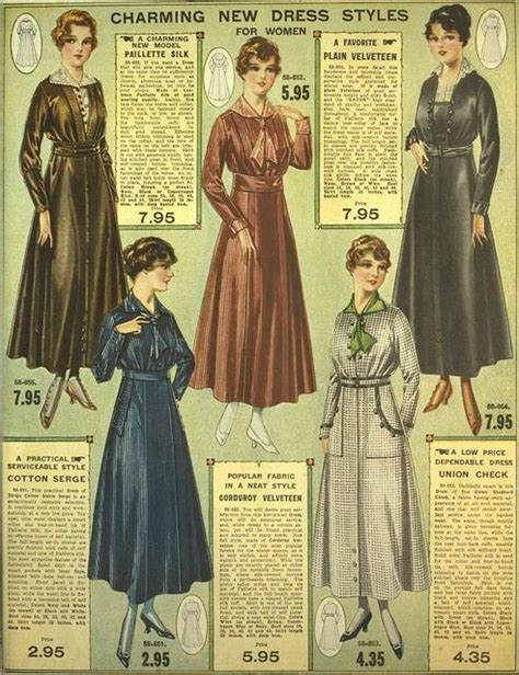 professional pattern grading for women s men s and charming new dress styles for women eaton s 1916 1917