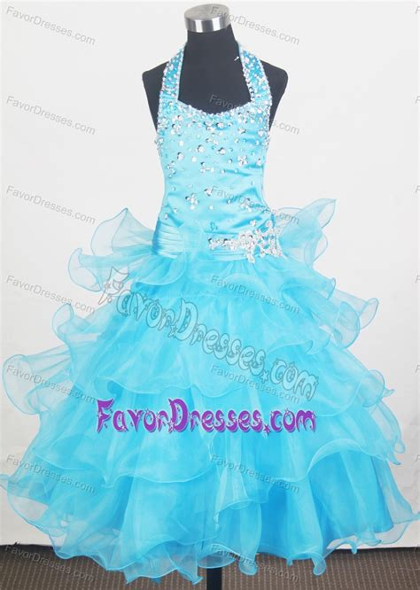 little girl beauty pageant dresses charming halter ruffled little girls beauty pageant