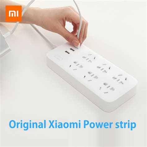 Xiaomi Mi Smart Power 5 original xiaomi mi smart power outlet socket updated version 3 usb extension socket