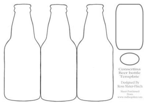 beer bottle consertina template cup173126 294 craftsuprint