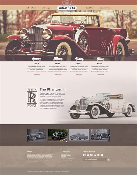 free vintage car template creativegeek