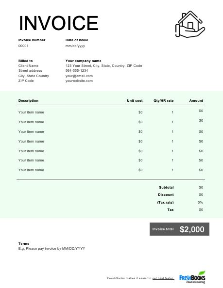 Construction Invoice Template | Free Download | Send in