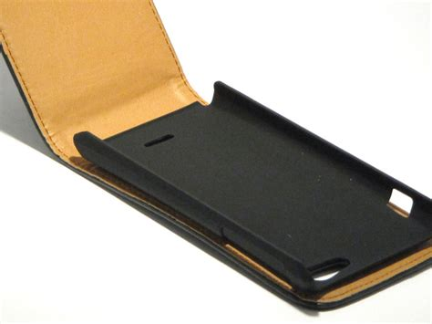 Flip Cover Xperia J classic leather flip voor sony xperia j st26i