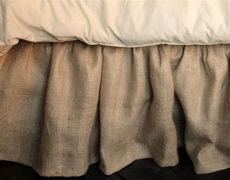 burlap bed skirt burlap bed skirt queen and king