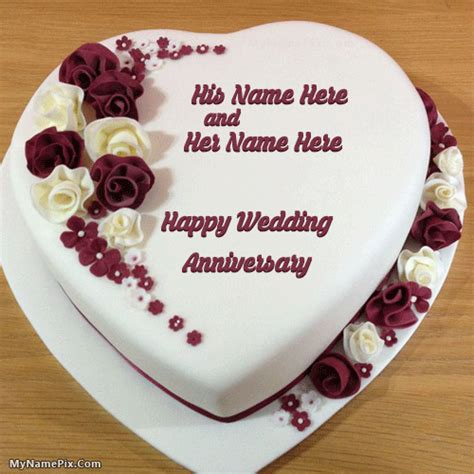 Wedding Wishes My Name Pix by Wedding Anniversary Cake With Name