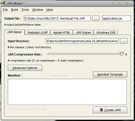 templates in java exle membuat sebuah file executable dalam program java