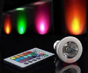 Led Light Bulbs That Change Color Color Changing Led Light Bulb With Remote Dudeiwantthat