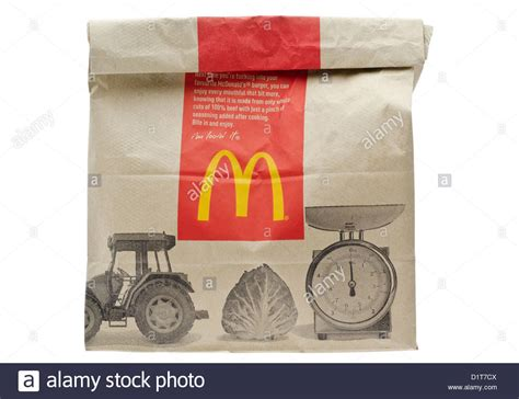 How To Make Paper In Mc - mcdonald s fast food meal in brown paper bag stock photo