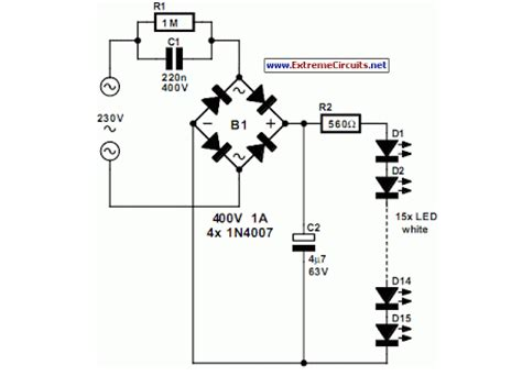 Led Light Bulbs Circuit Diagram Mains Powered White Led L Eeweb Community