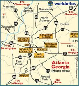 atlanta map atlanta attractions facts and