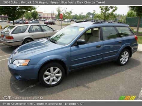 blue subaru outback 2007 newport blue pearl 2007 subaru outback 2 5i wagon