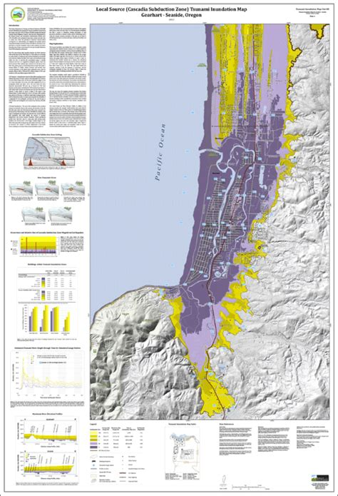 gearhart oregon map dogami tim clat 08 tsunami inundation maps for gearhart