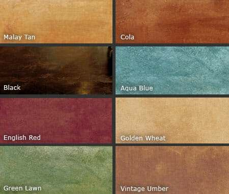 acid stain colors acid stained and color dyed garage floors all garage floors