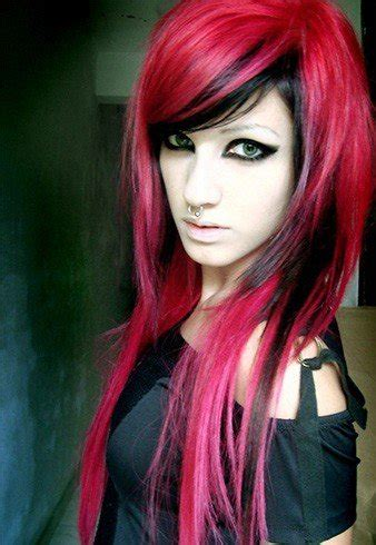 black hairstyles red red and black hairstyles the latest color trend that we