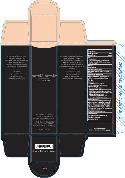 Exc Liquid Foundation 03 20 Ml dailymed bareminerals barepro performance wear liquid