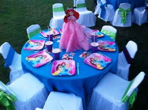 Table And Chair Rental Near Me Ariel Little Mermaid Princess Theme Birthday Party Table