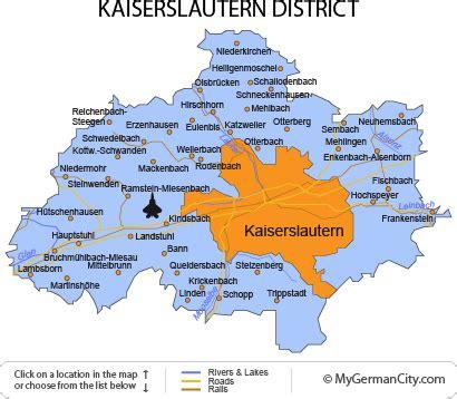 cities in germany kaiserslautern map and kaiserslautern satellite image