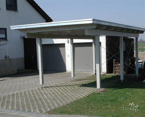 bau eines carports carport garage vordach holzbau hepp