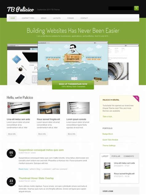 drupal themes clean 25 best images about 25 of the best free drupal business