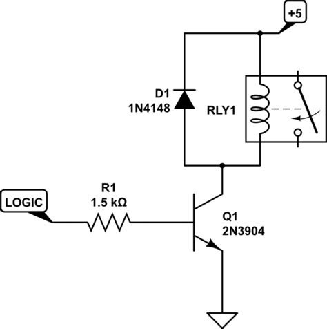 transistor max level level shifting drive a relay from a 3 3v 2ma max output electrical engineering stack exchange