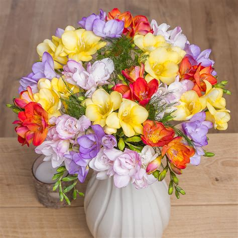 flowers by post fragrant flowers bouquet fragrant freesias bouquet by