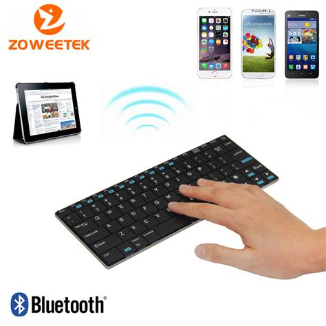 Dijamin Original Wireless Bluetooth Ultra Slim Keyboard For Universal aliexpress buy ultra slim original rii mini i9 k09 wireless bluetooth keyboard for tablet