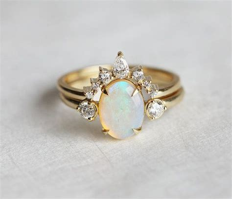 Wedding Rings With Opal by Best 25 Opal Engagement Rings Ideas On Pretty