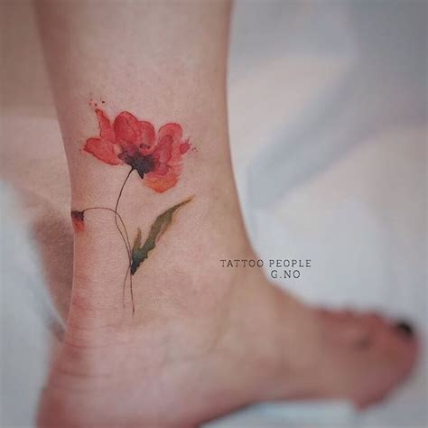 watercolor poppy tattoo best 25 watercolor poppy ideas on