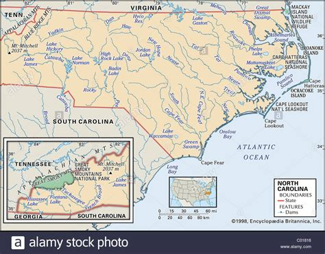physical map of nc physical map of carolina stock photo royalty free