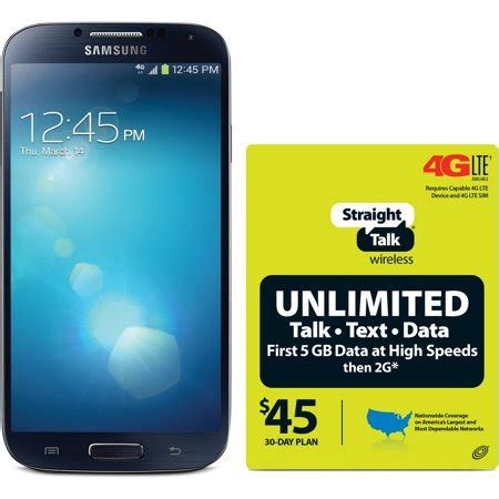 D G Samsung Plan by Talk Samsung Galaxy S4 4g Lte Android Refurbished Prepaid Smartphone W Bonus 45 30