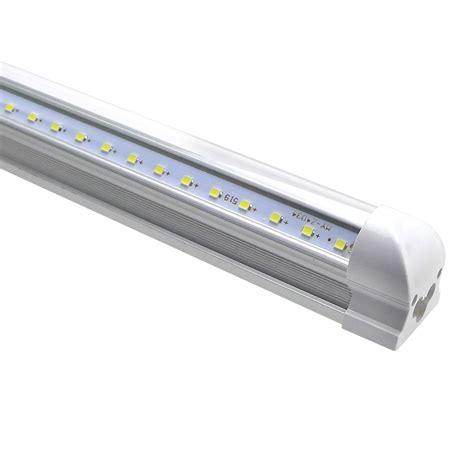 8ft led light 25pcs integrated t8 led v shape led bubls 4ft