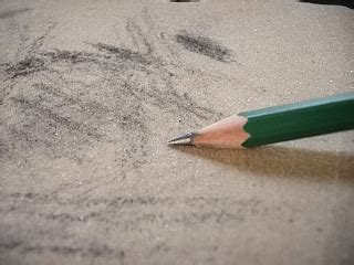 Sandpaper Sharpening Your Soft Drawing Pencils Will Lessen