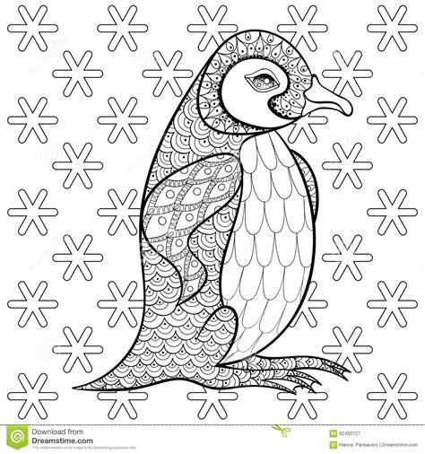 anti stress coloring books indigo coloring pages with king penguin among snowflakes