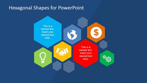 powerpoint template for hexagonal shapes for powerpoint slidemodel