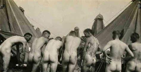 my own locker room my own locker room of soldiers taking bath wwi vintage homoerotic