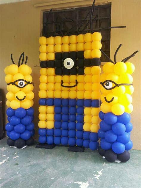 despicaable me minion balloon wall despicable me