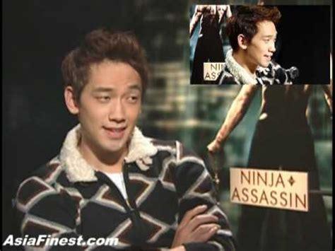 film ninja assassin youtube korean rain bi 비 ninja assassin movie interview in new