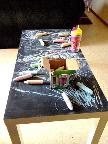 chalkboard paint coffee table 10 ways to use chalkboard paint