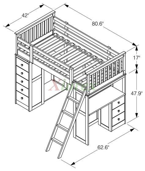 huckleberry loft bunk beds  kids  storage desk
