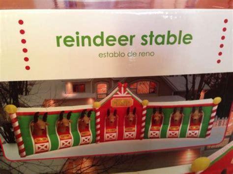 new 17 7 feet wide christmas reindeer stable airblown