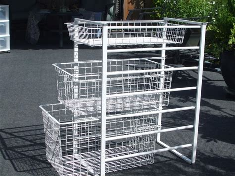 3 drawer wire basket storage unit cbell river