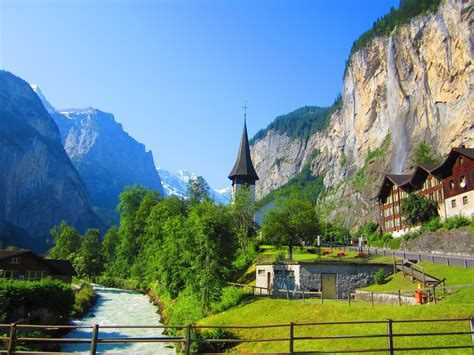 in switzerland lauterbrunnen a beautiful valley in switzerland travell