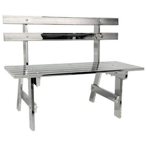 steel park bench sculptural modern stainless steel park bench for sale at 1stdibs