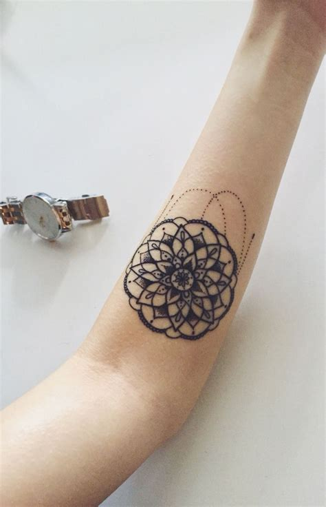 small hipster tattoos style small mandala design mandala