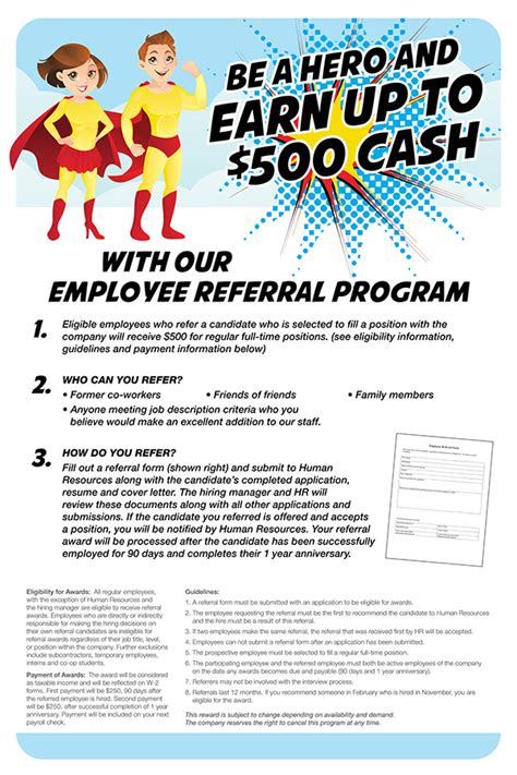 employee referral bonus flyer