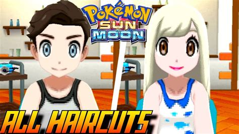 Pokémon Sun and Moon   All Haircuts   Colors (Male