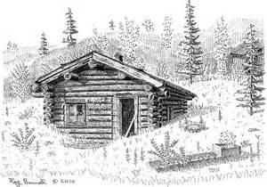 cabin drawings sketches of alaska ten days left in sketches of alaska cabin fever art sale