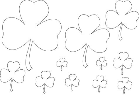 shamrock coloring pages small shamrock coloring pages printable coloring pages