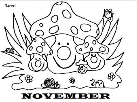 imagenes para colorear noviembre dibujos del mes de noviembre november en ingl 233 s para