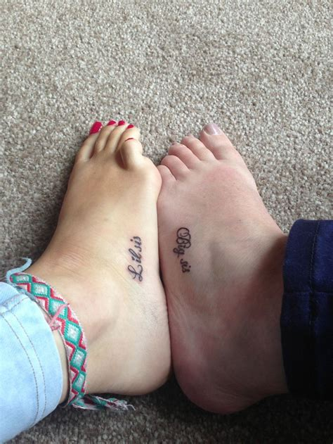 big sis lil sis tattoos big sis lil sis foot tattoos x tattoos